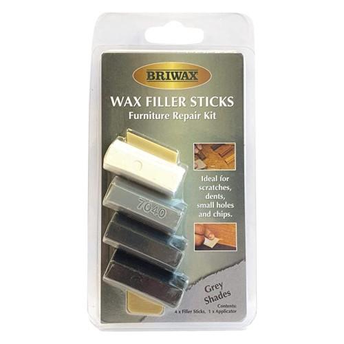 Briwax Wax Filler Stick Set - Grey